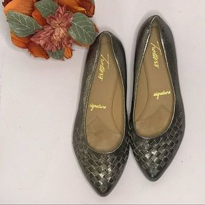 TROTTERS SILVER WOVEN FLATS (Signature) NORDSTROM
